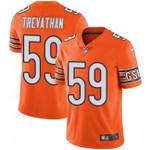 Bears #59 Danny Trevathan Orange Team Color V-neck Short-sleeve Jersey For Fans