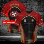 Custom Name NFL San Francisco 49ers Baseball Shirt