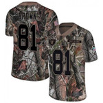 Raiders #81 Tim Brown Camo Team Color V-neck Short-sleeve Jersey For Fans