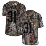 Broncos #31 Justin Simmons Camo Team Color V-neck Short-sleeve Jersey For Fans