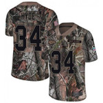 Chiefs #34 Carlos Hyde Camo Team Color V-neck Short-sleeve Jersey For Fans
