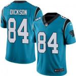 Panthers #84 Ed Dickson Blue Team Color V-neck Short-sleeve Jersey For Fans
