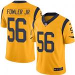 Rams #56 Dante Fowler Jr Gold Team Color V-neck Short-sleeve Jersey For Fans