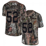 Packers #52 Rashan Gary Camo Team Color V-neck Short-sleeve Jersey For Fans