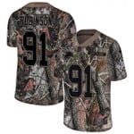 Lions #91 A'Shawn Robinson Camo Team Color V-neck Short-sleeve Jersey For Fans