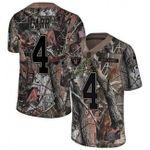 Raiders #4 Derek Carr Camo Team Color V-neck Short-sleeve Jersey For Fans