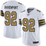 Saints #92 Marcus Davenport White Team Color V-neck Short-sleeve Jersey For Fans