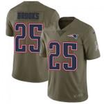 Patriots #25 Terrence Brooks Navy Blue Team Color V-neck Short-sleeve Jersey For Fans