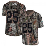 Patriots #25 Terrence Brooks Camo Team Color V-neck Short-sleeve Jersey For Fans
