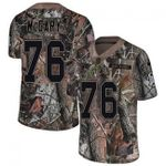 Falcons #76 Kaleb McGary Camo Team Color V-neck Short-sleeve Jersey For Fans