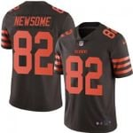 Browns #82 Ozzie Newsome Brown Team Color V-neck Short-sleeve Jersey For Fans