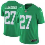 Eagles #27 Malcolm Jenkins Green Team Color V-neck Short-sleeve Jersey For Fans