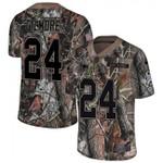 Patriots #24 Stephon Gilmore Camo Team Color V-neck Short-sleeve Jersey For Fans