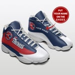 NEW ENGLAND PATRIOTS NFL CUSTOM NAME SHOES  Air Jordan 13 Shoes Sneaker,  Gift Shoes For Fan Like Sneaker You Can ADD Name