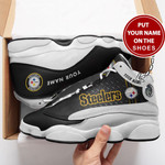 PITTSBURGH STEELERS NFL CUSTOM NAME SHOES  Air Jordan 13 Shoes Sneaker,  Gift Shoes For Fan Like Sneaker , You Can ADD Name
