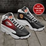 KANSAS CITY CHIEFS NFL CUSTOM NAME SHOES  Air Jordan 13 Shoes Sneaker,  Gift Shoes For Fan Like Sneaker, You Can ADD Name
