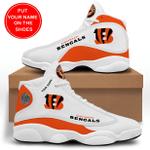 CINCINNATI BENGALS CUSTOM NAME SHOES  Air Jordan 13 Shoes Sneaker,  Gift Shoes For Fan Like Sneaker, Shoes Personalized