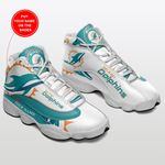 MIAMI DOLPHINS ADD NAME SHOES  Air Jordan 13 Shoes Sneaker,  Gift Shoes For Fan Like Sneaker, Shoes Personalized Team