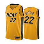 Men's Jimmy Butler Miami Heat Trophy Gold  2021 Jersey