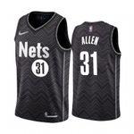 Men's Jarrett Allen Brooklyn Nets Black  2021 Jersey