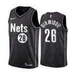 Men's Spencer Brooklyn Nets Black  2021 Jersey
