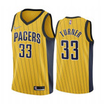 Men's Myles Turner Indiana Pacers Yellow  2021 Jersey