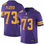 Vikings #73 Sharrif Floyd Purple Team Color V-neck Short-sleeve Jersey For Fans