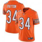 Bears #34 Walter Payton Orange Team Color V-neck Short-sleeve Jersey For Fans