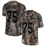 Browns #75 Joel Bitonio Camo Team Color V-neck Short-sleeve Jersey For Fans