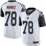 Bengals #78 Anthony Munoz White Team Color V-neck Short-sleeve Jersey For Fans