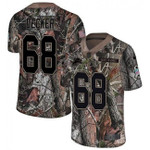 Lions #68 Taylor Decker Camo Team Color V-neck Short-sleeve Jersey For Fans