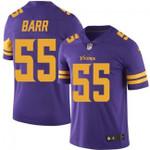 Vikings #55 Anthony Barr Purple Team Color V-neck Short-sleeve Jersey For Fans