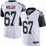 Bengals #67 John Miller White Team Color V-neck Short-sleeve Jersey For Fans