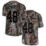 Jets #48 Jordan Jenkins Camo Team Color V-neck Short-sleeve Jersey For Fans