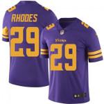 Vikings #29 Xavier Rhodes Purple Team Color V-neck Short-sleeve Jersey For Fans
