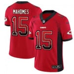 Chiefs #15 Patrick Mahomes Red Team Color V-neck Short-sleeve Jersey For Fans