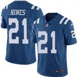 Colts #21 Nyheim Hines Royal Blue Team Color V-neck Short-sleeve Jersey For Fans