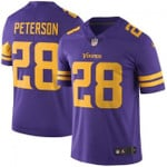 Vikings #28 Adrian Peterson Purple Team Color V-neck Short-sleeve Jersey For Fans