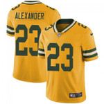 Packers #23 Jaire Alexander Yellow Team Color V-neck Short-sleeve Jersey For Fans