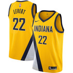 Indiana Pacers NBA Nike Statement Swingman Jersey - Gold - Caris Levert - Mens Shirt
