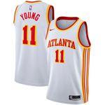 Atlanta Hawks NBA Nike Association Swingman Jersey- 11 Trae Young-Mens Shirt