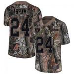 Raiders #24 Johnathan Abram Camo Team Color V-neck Short-sleeve Jersey For Fans
