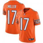 Bears #17 Anthony Miller Orange Team Color V-neck Short-sleeve Jersey For Fans