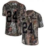 Bills #24 Taron Johnson Camo Team Color V-neck Short-sleeve Jersey For Fans