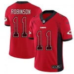 Chiefs #11 Demarcus Robinson Red Team Color V-neck Short-sleeve Jersey For Fans