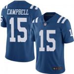 Colts #15 Parris Campbell Royal Blue Team Color V-neck Short-sleeve Jersey For Fans