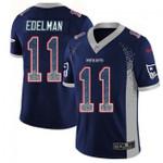 Patriots #11 Julian Edelman Navy Blue Team Color V-neck Short-sleeve Jersey For Fans