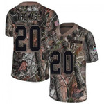 Browns #20 Tavierre Thomas Camo Team Color V-neck Short-sleeve Jersey For Fans