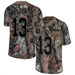 Colts #13 T.Y. Hilton Camo Team Color V-neck Short-sleeve Jersey For Fans