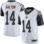 Bengals #14 Andy Dalton White Team Color V-neck Short-sleeve Jersey For Fans